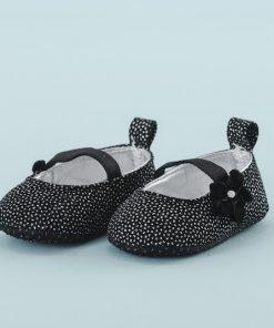 Zapato de Niña Negro Brillos (Talla: 13-14-15)